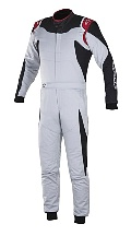 Alpinestars GP Race Suit Silver Black  - Click for larger image
